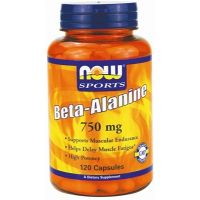 NOW Foods - Beta Alanina, 750 mg, 120 kapsułek