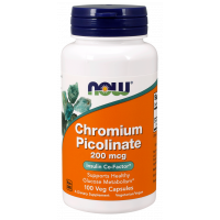 NOW Foods - Chromium Picolinate, 200mcg, 100 kapsułek