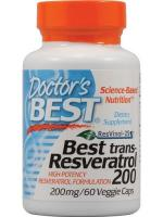 Doctor's Best - Resweratrol Trans, 200mg, 60 vkaps
