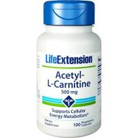 Life Extension - Acetyl-L-Carnitine, 500mg, 100 vkaps