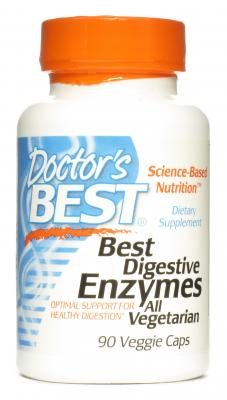 Doctor's Best - Digestive Enzymes, 90 vkaps
